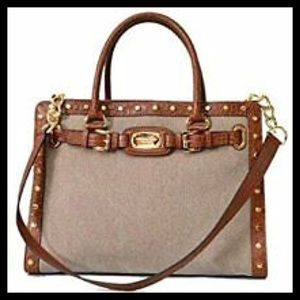Michael Kors Hamilton Large EW Studded Satchel